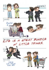 【冬叉冬本】Life is a great bundle of little things.