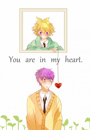 【You are in my heart.】HTF二創擬人4格本