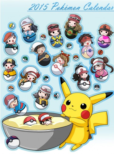 2015 Pokemon calendar