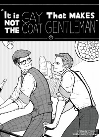 It's not the gay coat that makes the gentleman