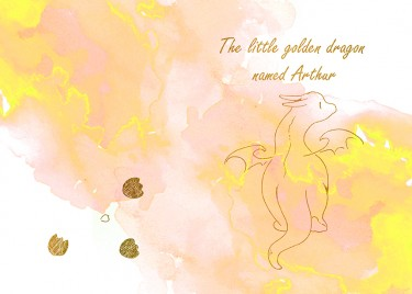 The little golden dragon named Arthur