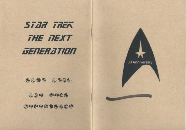 Star  Trek The Next Generation 30週年紀念本