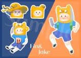 ♥Adventure Time Fin&Jake 阿寶與老皮貼紙♥