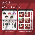 [現貨] A.C.E 飯繪 周邊 A5 貼紙 UNDER COVER : THE MAD SQUAD