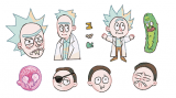 Rick and Morty 刀模貼紙