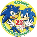 SONIC THE HEDGEHOG音速小子25周年紀念徽章