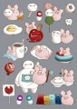 """Apple Pig x Baymax""Theme Sticker (Pack)"