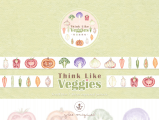 我蔬故我在 Think Like Veggies 水彩 紙膠帶