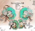 《Rick and Morty》雙面不同圖鐳射覆膜透明壓克力吊飾