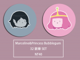Adventure Time Marceline & Princess Bubblegum 徽章套組