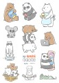 We Bare Bears 刀膜貼紙