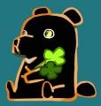 熊與兩片幸運草